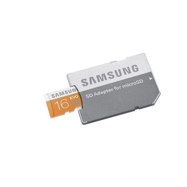 Samsung 16GB micro SD (Class10) memória kártya SD adapterrel