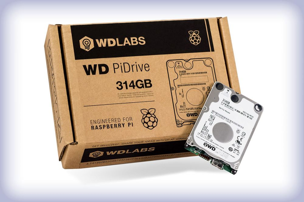 WD PiDrive 314GB ajándék WD PiDrive kábellel