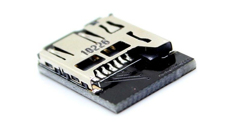 """Low-profile"" microSD adapter Raspberry Pi-hez"