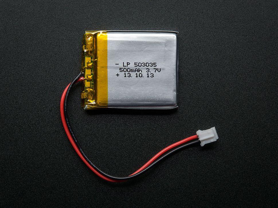Lithium Ion Polymer Akkumulátor - LiPo 3.7v 500mAh