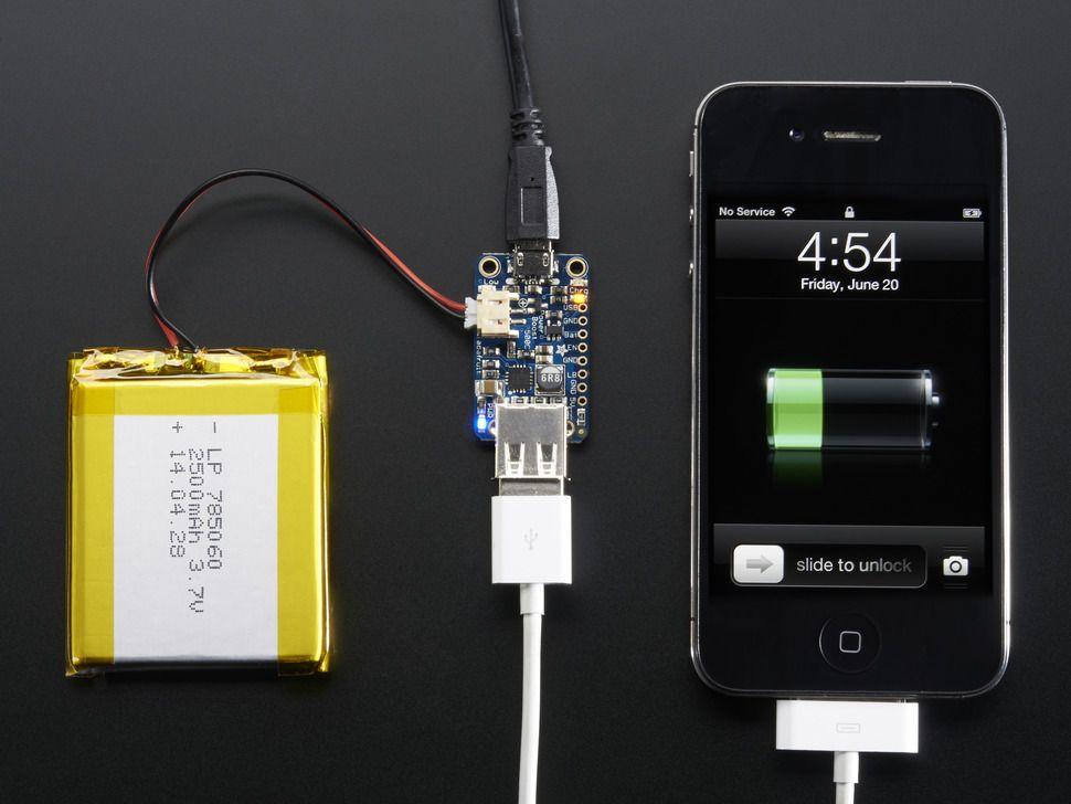 PowerBoost 500 Charger - kapcsolóüzemű tápmodul LiIon/LiPo töltés funkcióval opcionális USB kimenet @ 500mA+