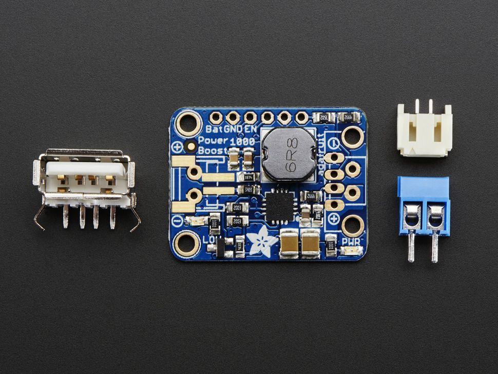 PowerBoost 1000 Basic - 5V USB Boost @ 1000mA 1.8V - bemeneti feszültségtől
