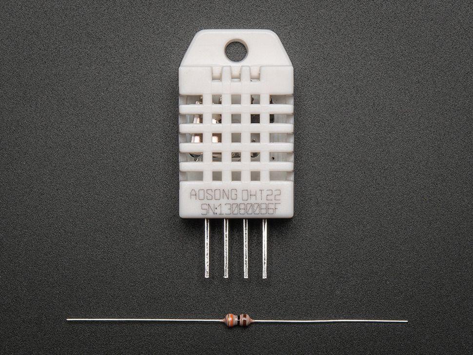 DHT22 nagypontosságú digitális hőmérséklet és páratartalom mérő szenzor Raspberry PI-hez