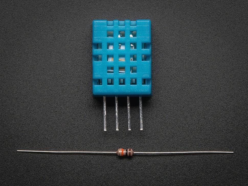 DHT11 digitális hőmérséklet és páratartalom mérő szenzor Raspberry PI-hez