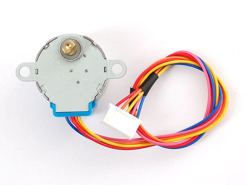 512 lépéses Unipoláris 4 fázisú 5 vezetékes léptetőmotor (5V) Raspberry PI-hez