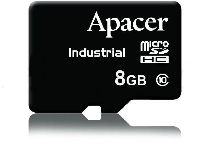 8GB Class10 microSD - Industrial - Előtelepített rendszerrel