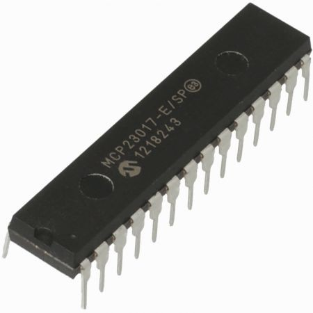 16 BIT-es GPIO bővítő Raspberry PI-hez SPI interfésszel - MCP23S17-E/SP