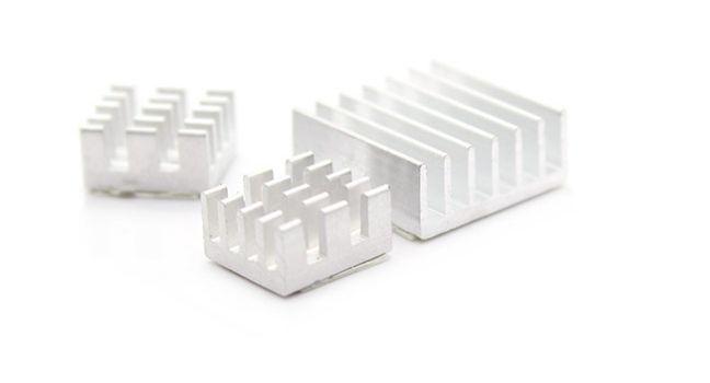 3 db-os alumínium hűtőborda készlet Raspberry PI-hez