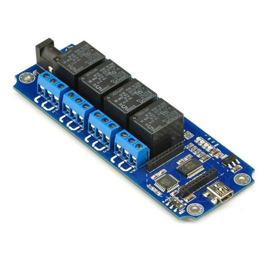 TOSR04-T 4 csatornás USB/Wireless relémodul - max 10A 250VAC